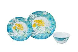 Galleyware Mermaid 12-Piece Melamine Dinnerware Set, Service