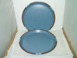 "Dansk Mesa Sky Blue Set of 2 Dinner Plates 10 1/2"" Japan"