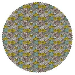 iPrint Mildewproof Round Tablecloth  Fabric Home Set