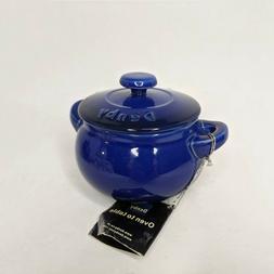Denby Mini Casserole Dish Glazed Imperial Blue Ceramic Oven