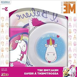 Zak Designs Despicable Me Plate, Bowl & Cup Gift Set, Fluffy
