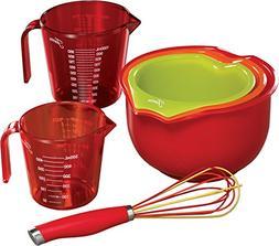 Fiesta 6 Piece Mix & Measure Kitchen Set, Multicolor