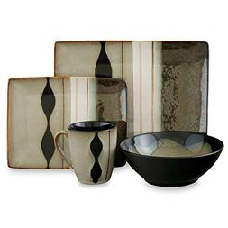 Modern Design 16-Piece Dinnerware Set , Square & Round Shape