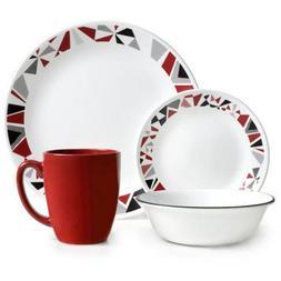 Corelle 16 Piece Modern and Dynamic Design Livingware Dinner