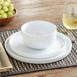 Better Homes and Gardens Modern Rim 12-Piece Dinnerware Set,