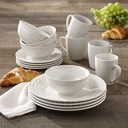 Elle Collection Monique Porcelain 16 Piece Round Dinnerware