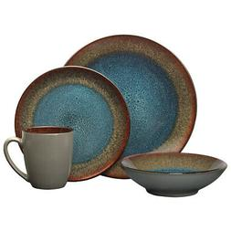 Pfaltzgraff Monroe Blue 16 Piece Dinnerware Set