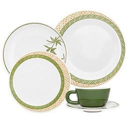 Oxford Moon Vime 30 Piece Porcelain Dinnerware Set, White