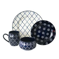 Baum Moroccan 16-Piece Dinnerware Set in Navy