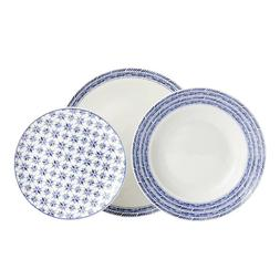 Moroccan Mediterranean Style Dinner Set 12Pcs Porcelain Side