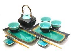 MySushiSet - 11 piece Ocean Breeze Sushi and Tea Set