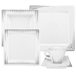 Oxford Nara Venue 30 Piece Porcelain Dinnerware Set
