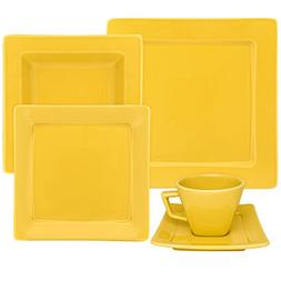 Oxford Nara Yellow 20 Piece Porcelain Dinnerware Set