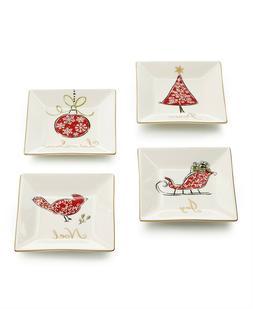 222 Fifth Natala Appetizer / Dessert / Bread Plates, Set of