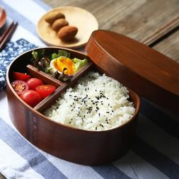Natural Wood Lunch Boxs Japanese <font><b>Oval</b></font> Be