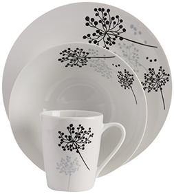 Gibson Home Netherwood 12-Piece Dinnerware Set, White New