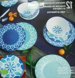 New ! 12-piece Melamine Dinnerware Set  Nice Gift