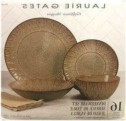 New Laurie Gates 16 Piece Dinnerware set California Designs