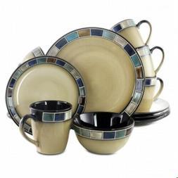 16-Piece Multi-Colored Reactive Glaze Stoneware Casa Esteban
