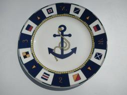 new anchors aweigh porcelain 20 piece dinnerware