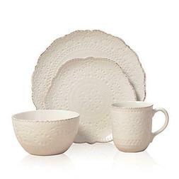 NEW Pfaltzgraff Chateau Cream 16-piece Dinnerware Dishes Set