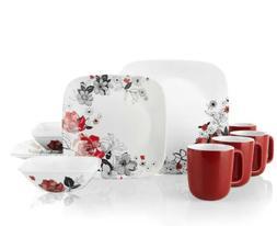 New  Corelle Chelsea Rose 16-pc. Dinnerware Set