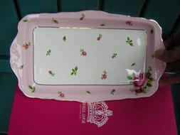 """royal albert NEW COUNTRY ROSES PINK 11 1/2"""" SANDWICH TRAY go"""