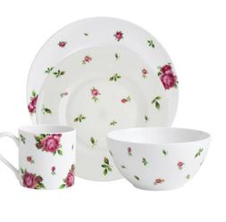 Royal Albert New Country Roses White 16 Piece Dinner Ware Di