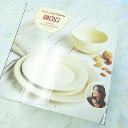 new cucina 12 piece dinnerware set stoneware