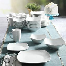 new everyday square expanded 40 piece dinnerware