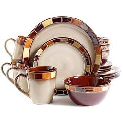 New Gibson Casa Estebana 16 piece Dinnerware Set Service For