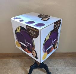 New In Box Rachael Ray 16 Piece Purple Stoneware Dinnerware