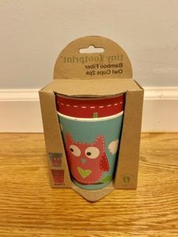 NEW IN BOX Tiny Footprint Bamboo Fiber TF0792OC Owl Cups Pac