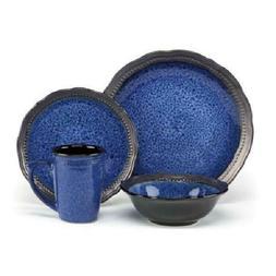 New Cuisinart Jenna Blue Collection Stoneware 16-Piece Dinne