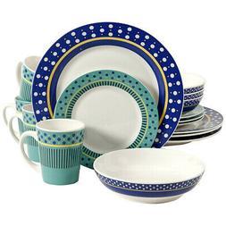 New Gibson Home Lockhart 16 Piece Round Stoneware Dinnerware