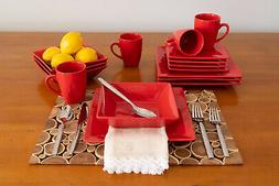 New 10 Strawberry Street Nova Square 16-Piece Dinnerware Set