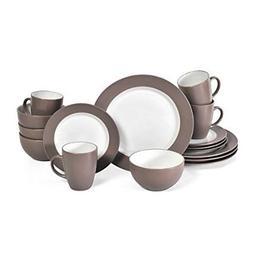 NEW Pfaltzgraff Harmony Taupe 16-Piece Stoneware Dinnerware