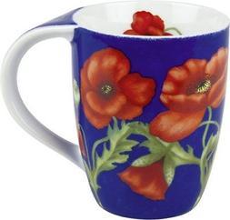 NEW Konitz Poppy Blossom Mugs, Set of 4 FREE2DAYSHIP TAXFREE