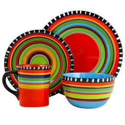 new pueblo springs 16 piece durastone dinnerware