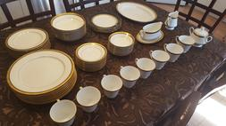 NEW Noritake Regent Gold Fine China  57-piece serving for 8