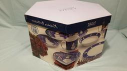 New Sakura Snowman 16-Piece Dinnerware Set Oneida NIB Servic