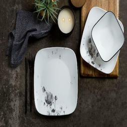 New Corelle Square Fleurs Du Soir 16-piece Dinnerware Set W
