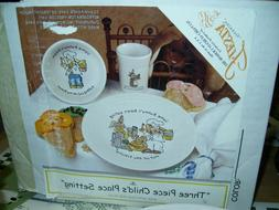 NIB Fiesta 3pc Childs Place Setting EASTER Bunny