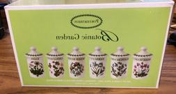 NIB Portmeirion Botanic Garden Set of 6 Assorted Motif Flora