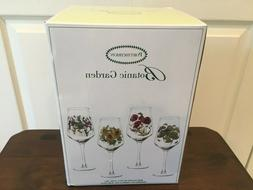 NIB Portmeirion Botanic Garden Wine Glasses Set of 4 NEW Flo