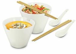 Kovot Noodle Soup Bowl Set - 28 Oz Bowls - Great For Pho, Ra