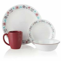 Nordic Bloom 16-Piece Dinnerware Set - Wildflowers, Glass, C