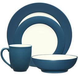 Noritake Colorwave Blue Rim 32Pc Dinnerware Set, Service for