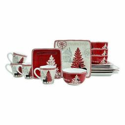 222 Fifth Northwood Cottage 16 Piece Dinnerware Set - New in