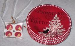 222 Fifth NorthWood Cottage Appetizer Snack Party Plates  Se